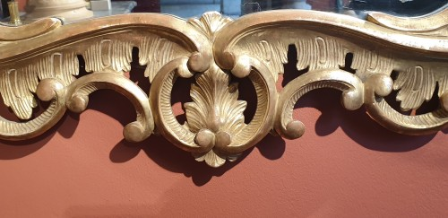 English mirror in gilded wood -