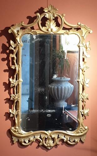 English mirror in gilded wood - Louis XV
