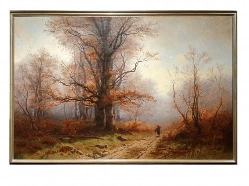 Autumnal landscape - Eugène Gustave Castan - (1823 - 1892)