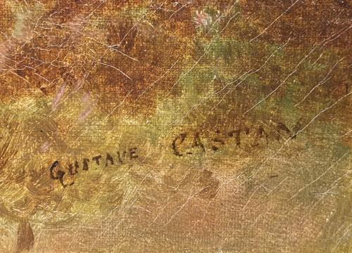 Paintings & Drawings  - Autumnal landscape - Eugène Gustave Castan - (1823 - 1892)
