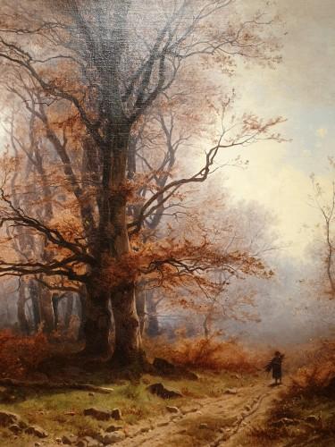 Autumnal landscape - Eugène Gustave Castan - (1823 - 1892) -