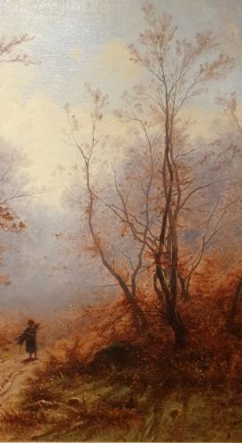 19th century - Autumnal landscape - Eugène Gustave Castan - (1823 - 1892)