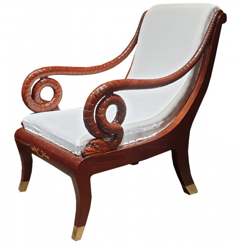 Large Russian mahogany armchair