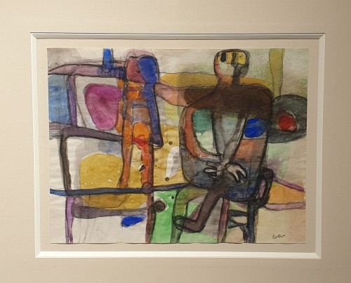 Paintings & Drawings  - Man sitting by a table 1934 - Maurice Estève (1904 - 2001)