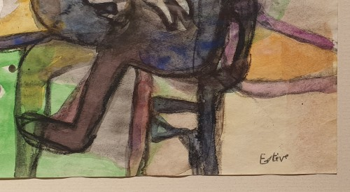 Man sitting by a table 1934 - Maurice Estève (1904 - 2001) -