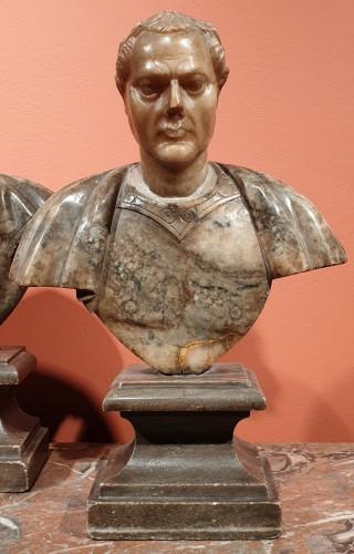 Sculpture  - Julius Caesar and Constantine the Great - 17th century