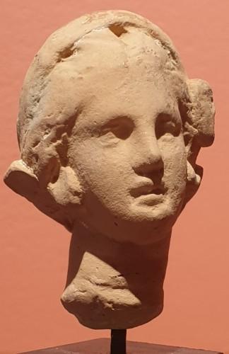 Ancient Art  - Hellenistic terra-cotta head of a woman
