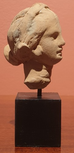 BC to 10th century - Hellenistic terra-cotta head of a woman