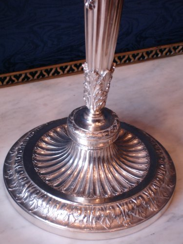 A pair of louis xvi style five-light candelabra -