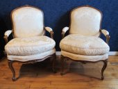 A louis xv period (1724 - 1774) pair of bergeres.