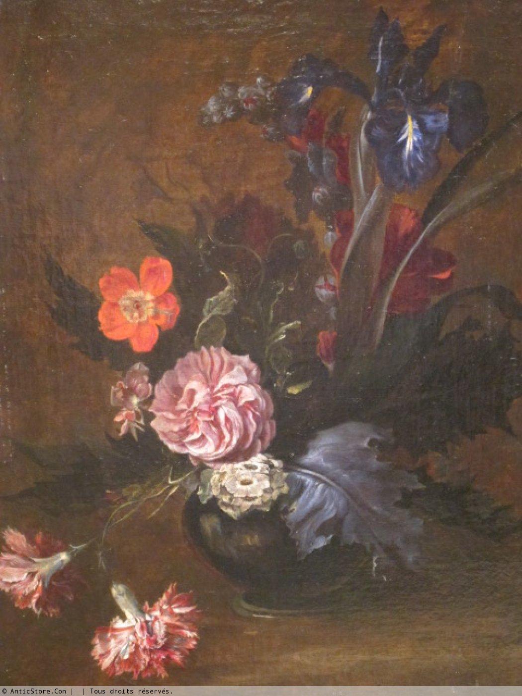 Bouquet De Fleurs Dans Un Vase Xviiie Siecle N 23739