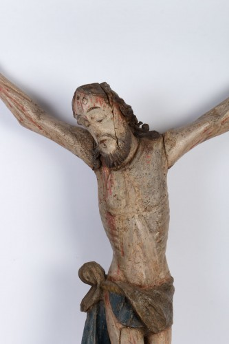Christ carved wood, 18th century - Religious Antiques Style