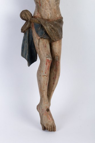 Christ carved wood, 18th century -