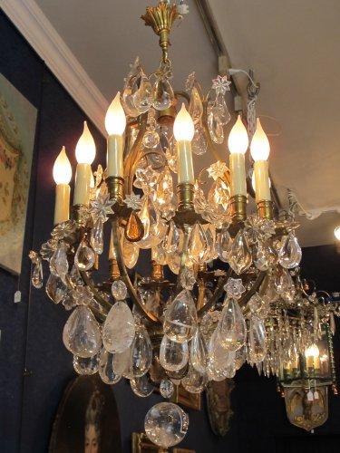 A louis xv style ormolu chandelier