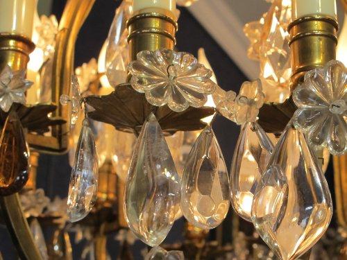 A louis xv style ormolu chandelier -