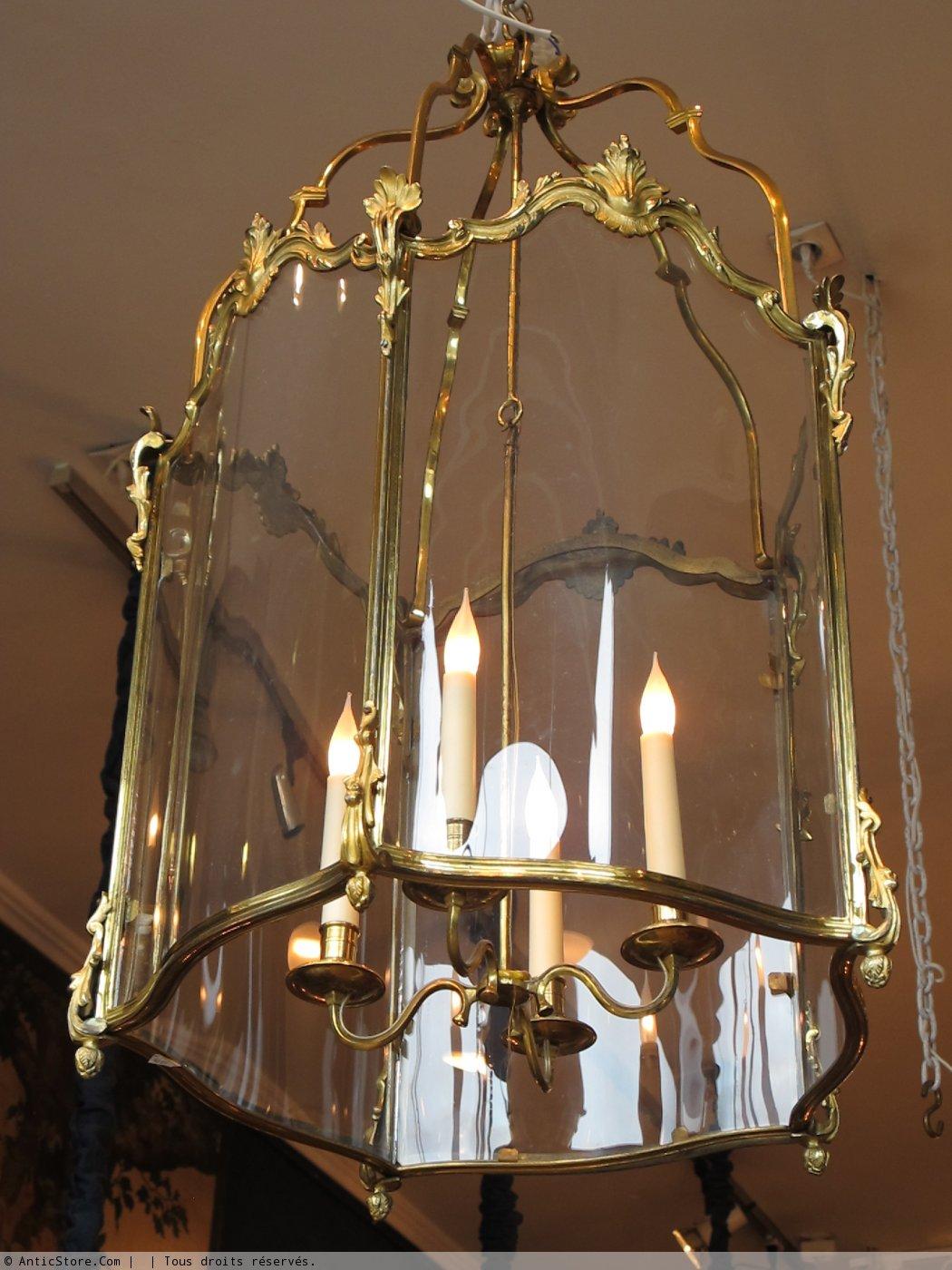 grande lanterne de style louis xv xixe si cle. Black Bedroom Furniture Sets. Home Design Ideas