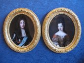 A pair of portraits, French school of the 17th century