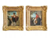 Dominique louis papety (marseille 1815 - 1849 marseille): a pair of portrai