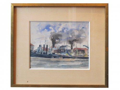 Elisée maclet (1881 - 1962)  the port