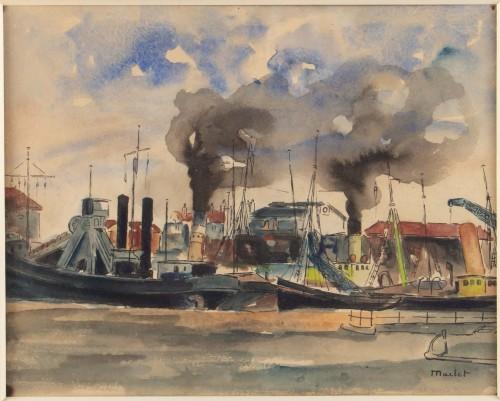 Elisée maclet (1881 - 1962)  the port - Paintings & Drawings Style