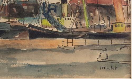 Paintings & Drawings  - Elisée maclet (1881 - 1962)  the port
