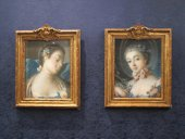 A pair of pastels Portraits of woman