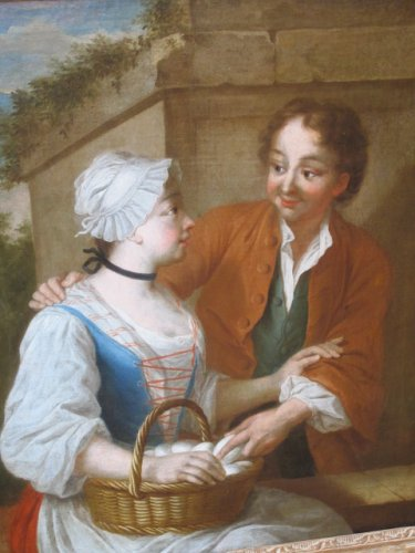 French school of the 18th century - La marchande d'oeufs