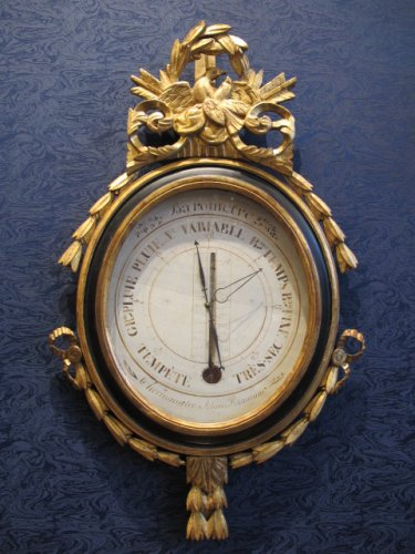 A Louis XVI period (1774 - 1793) barometer-thermometer
