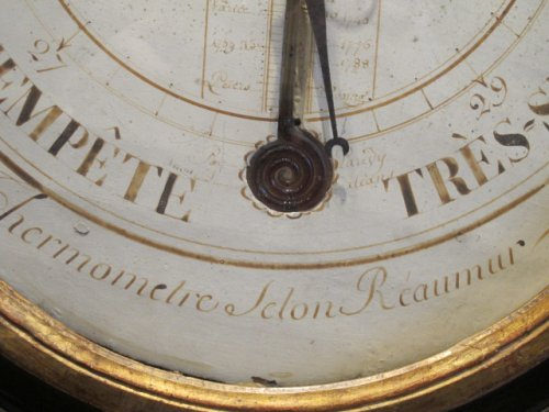 Decorative Objects  - A Louis XVI period (1774 - 1793) barometer-thermometer