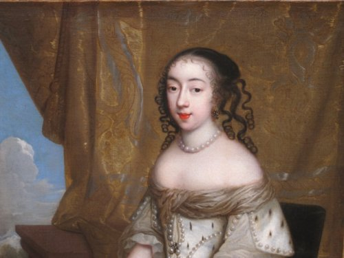 Charles Beaubrun (1604 - 1694) - Portrait of Henrietta of England - Paintings & Drawings Style