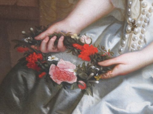 Antiquités - Charles Beaubrun (1604 - 1694) - Portrait of Henrietta of England