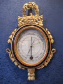 A Louis XVI period (1774 - 1793) barometer - thermometer
