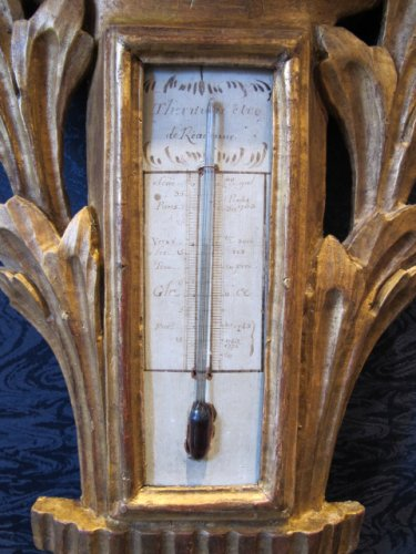 Decorative Objects  - A Transition Louis XV - Louis XVI period barometer - thermometer