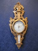 A Transition Louis XV - Louis XVI period barometer - thermometer.