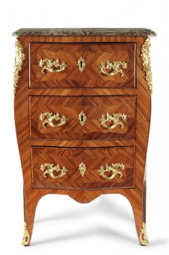 A Louis XV (1724 - 1774) period small commode stamped Ellaume