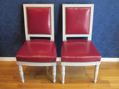 A 1st Empire (1804-1815) period pair of lacquered chairs