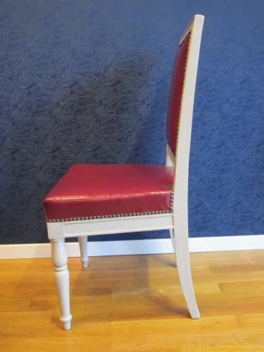 A 1st Empire (1804-1815) period pair of lacquered chairs - Empire