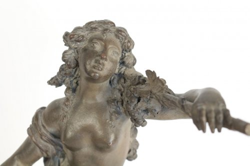 "Sculpture  - Large Terracotta ""Faun and Bacchante"""