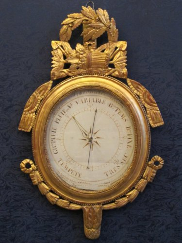 A Louis XVI period (1774 - 1793) barometer, 18th century