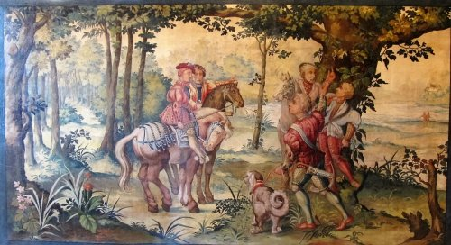 Tapestry design Aubusson manufacture 19th century