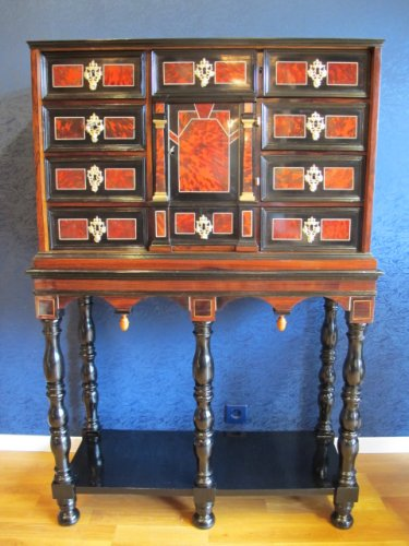 A marquetry cabinet, 17th century