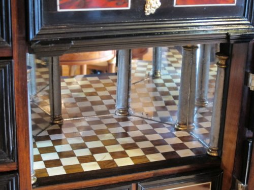 Furniture  - A marquetry cabinet, 17th century