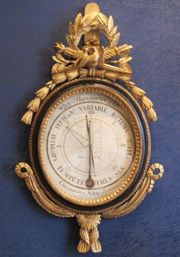A Louis XVI period barometer - thermometer