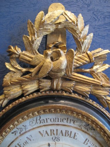 Decorative Objects  - A Louis XVI period barometer - thermometer