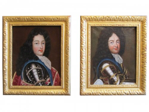 A Pair of portraits representing the princes, France 17th century