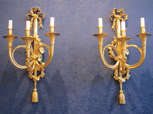 A Pair of Napoleon III period (1848 - 1870) wall lights.