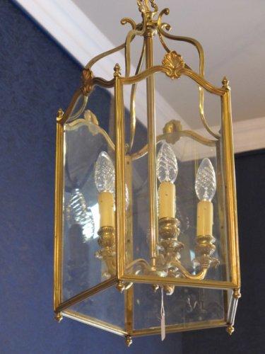 A bronze lantern