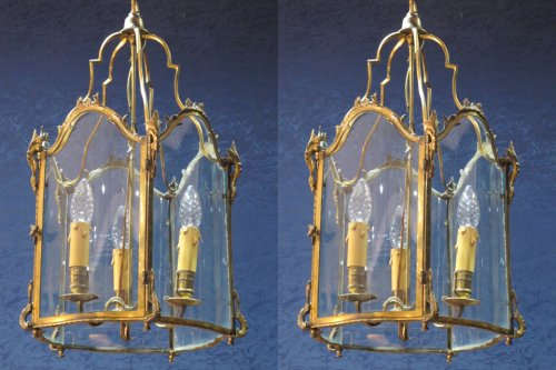 A pair of Louis XV style lanterns, Napoleon III period (1848 - 1870)