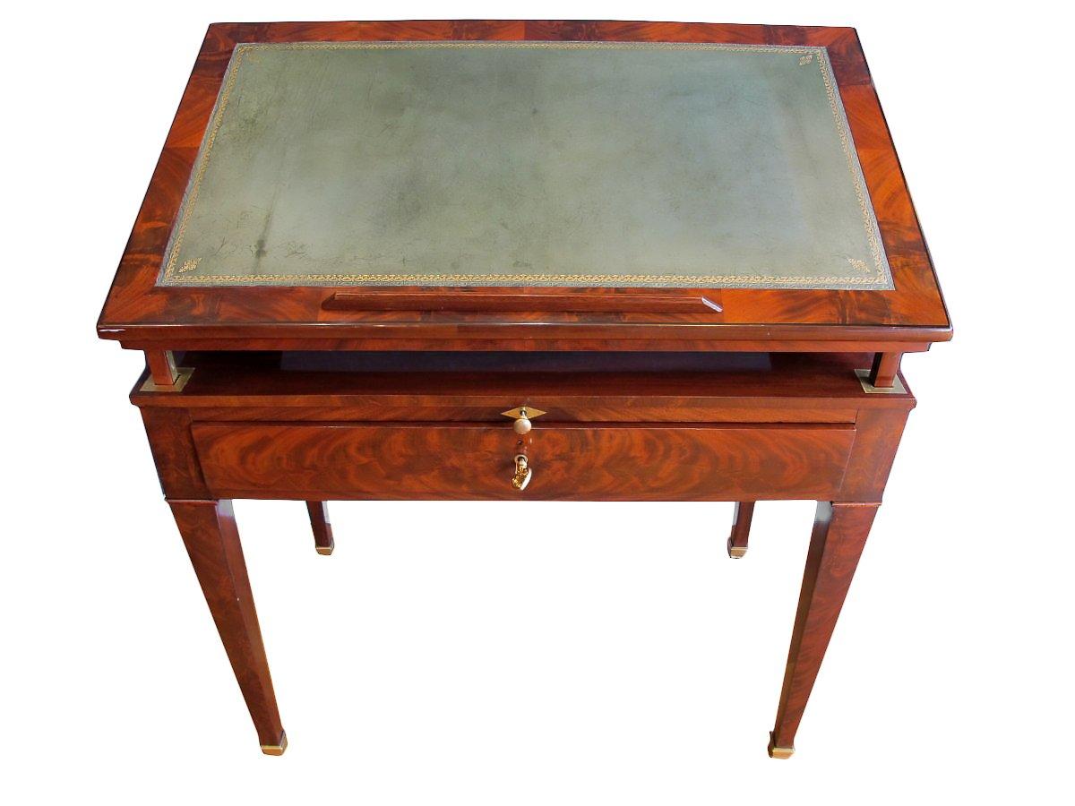 latest table dite la tronchin dupoque directoire with table architecte. Black Bedroom Furniture Sets. Home Design Ideas