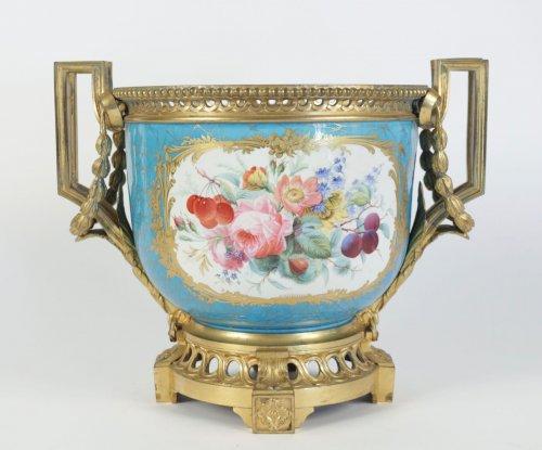 19th century - A Sèvres porcelain Cachepot